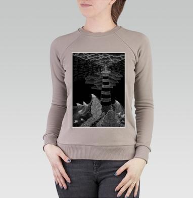 Маяк бури, Cвитшот женский, св. коричневый 320гр, стандарт