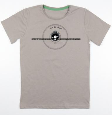 Футболка мужская св. коричневый 180гр - Viva La Vinyl