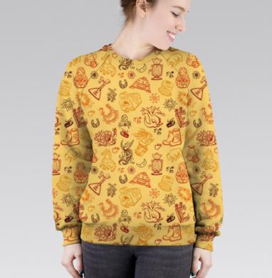Cвитшот женский без капюшона (полная запечатка) - Русская народная культура