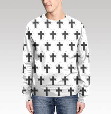 Свитшот мужской 3D - Декоративные кресты