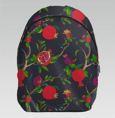 Красные гранаты на темном - Рюкзак