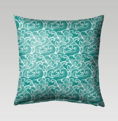 Волны Зеленого моря - Подушки с принтом
