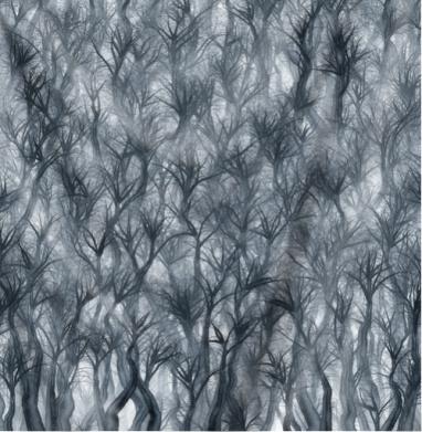 Туманный лес - Печать на текстиле
