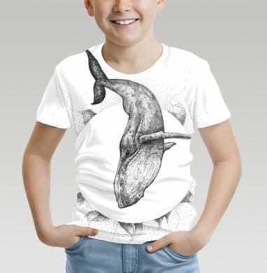 Футболка детская (полная запечатка) - Солнечный кит