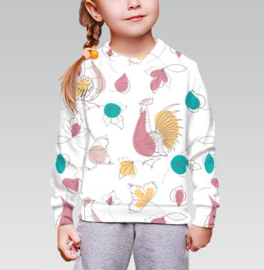 Cвитшот детский без капюшона (полная запечатка) - Райские птицы