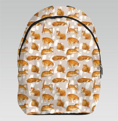 Паттерн с рыжими котами - Рюкзак
