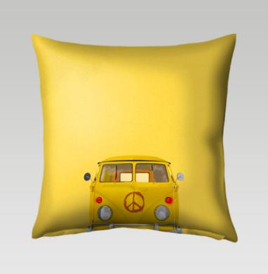 Хиппи Автобус - Подушки с принтом