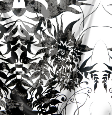 Растительный мотив - Серый