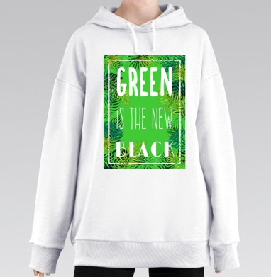 Green is the new black, Hoodie Mjhigh Long White