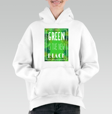 Green is the new black, Hoodie Mjhigh White, утепленная
