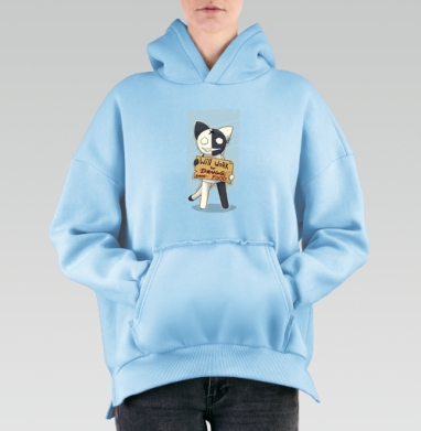 Will work for..., Hoodie Mjhigh Blue, утепленная