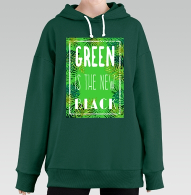 Green is the new black, Hoodie Long Oversize Green
