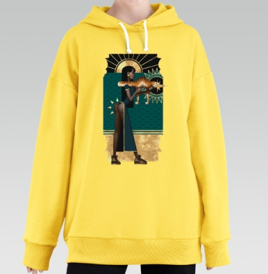Рататата, Hoodie Long Oversize Yellow