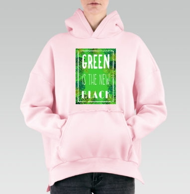 Green is the new black, Hoodie Mjhigh Pink, утепленная