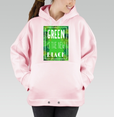 Green is the new black, Hoodie Oversize Pink, утепленная