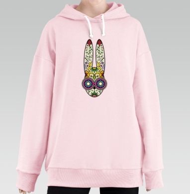 Day of the Dope, Hoodie Long Oversize Pink, утепленная