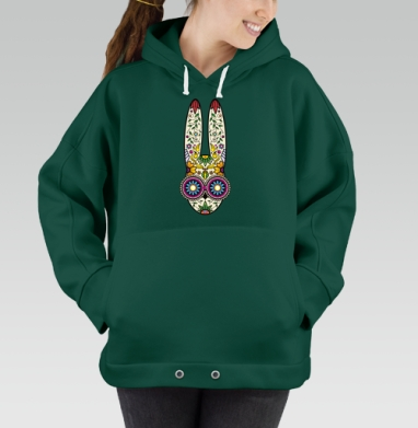 Day of the Dope, Hoodie Oversize Green, утепленная
