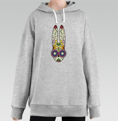 Day of the Dope, Hoodie Long Oversize Melang, утепленный