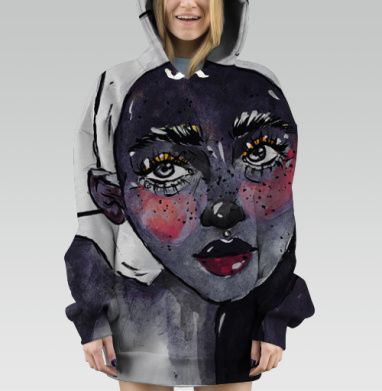 Night is your woman, Hoodie Oversize Dig 3D